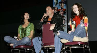 Adam Baldwin, Morena Baccarin and Summer Glau at the Grand Slam XIV: The Sci-Fi Summit.
